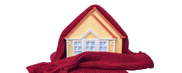 House covered with blanket