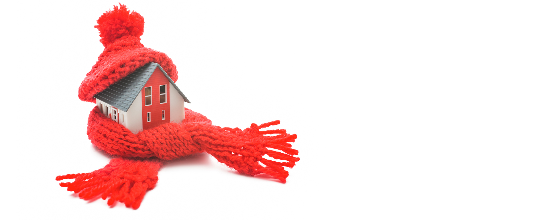house covered with hat and scarf